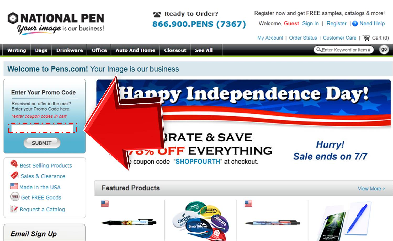 How to use a National Pen discount coupon code