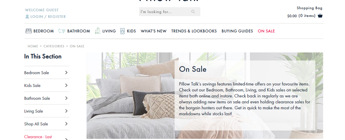 Pillow Talk Sales