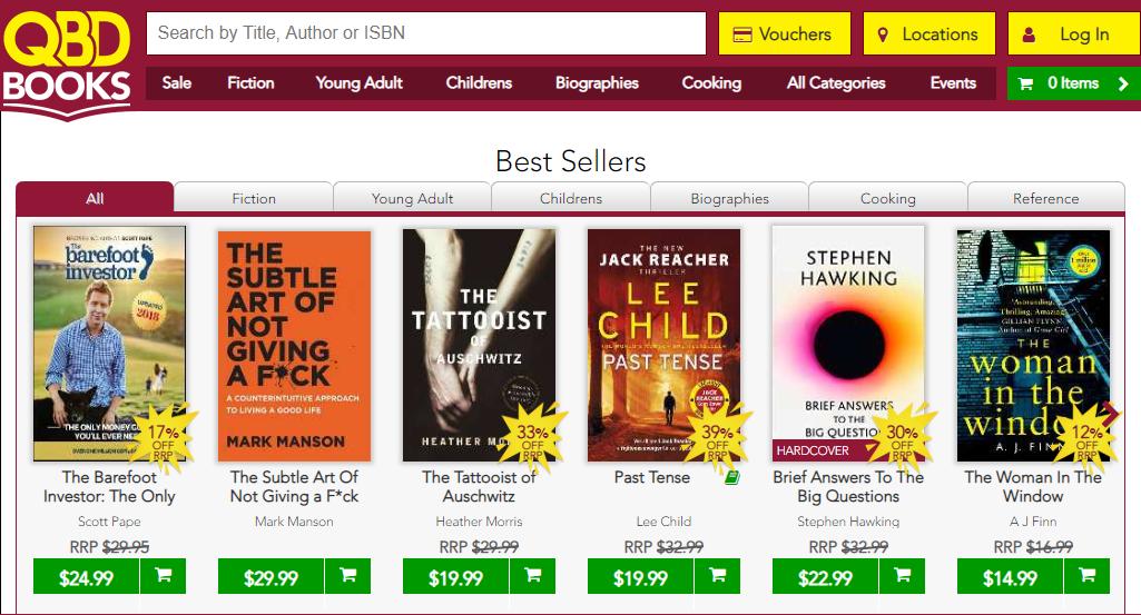 QBD Books Best Sellers