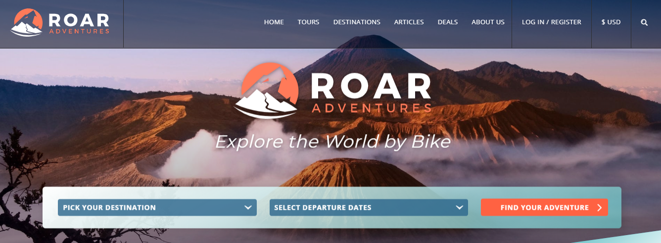 Roar Adventures Hompage