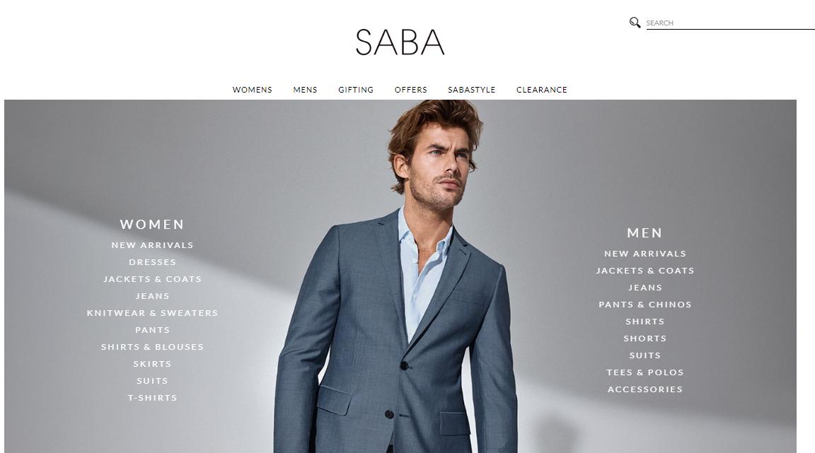 Saba Australia Homepage