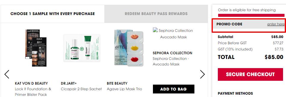 How do I use my Sephora discount code?