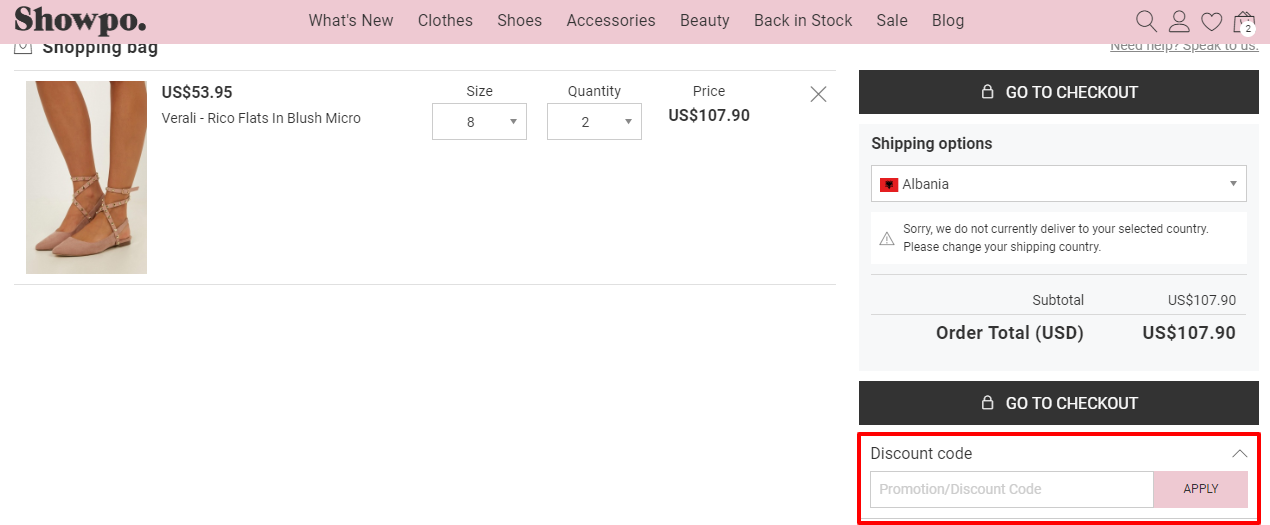 How do I use my Showpo discount code?