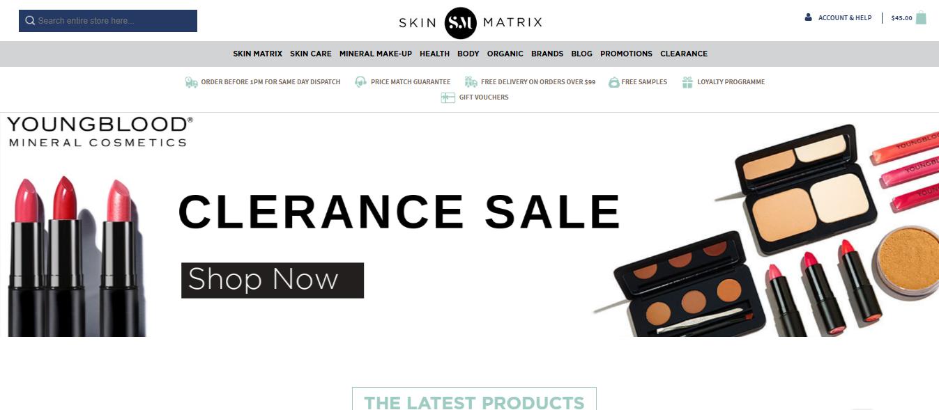 Skin Matrix Homepage
