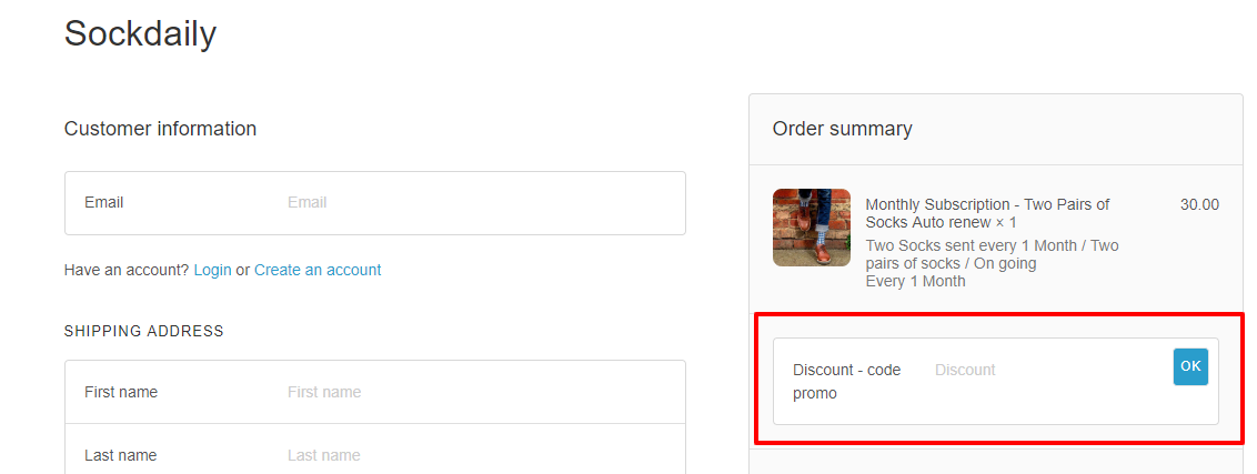 How do I use my Sockdaily discount code