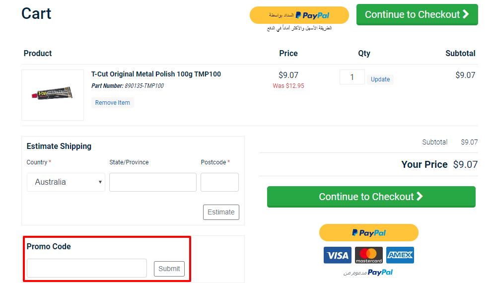 How do I use my Sparesbox discount code
