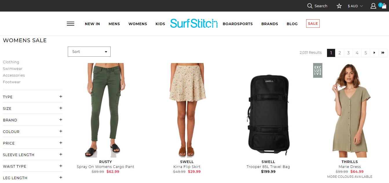 SurfStitch Sales