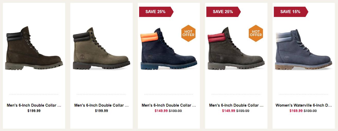 Timberland Sales