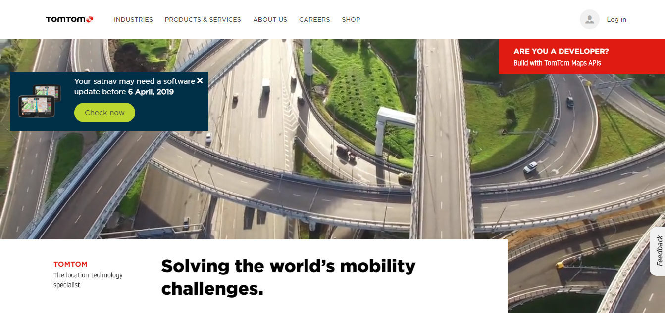 TomTom Homepage