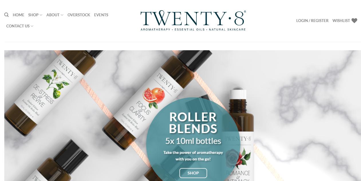 Twenty8 Homepage