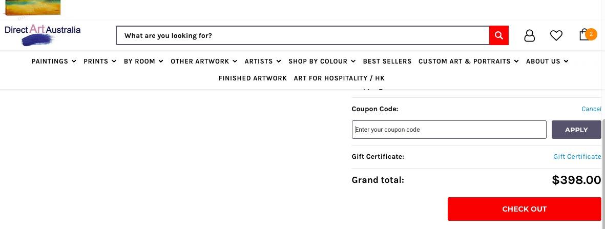use my Direct Art Australia discount code