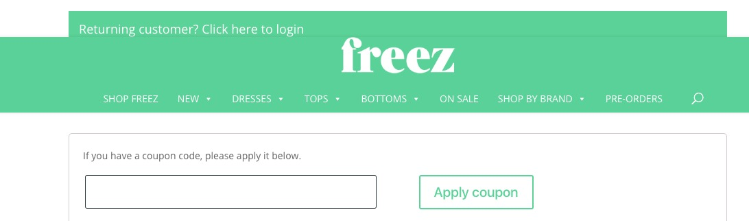 use my Freez discount code