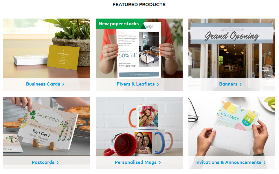 Vistaprint Featured Products