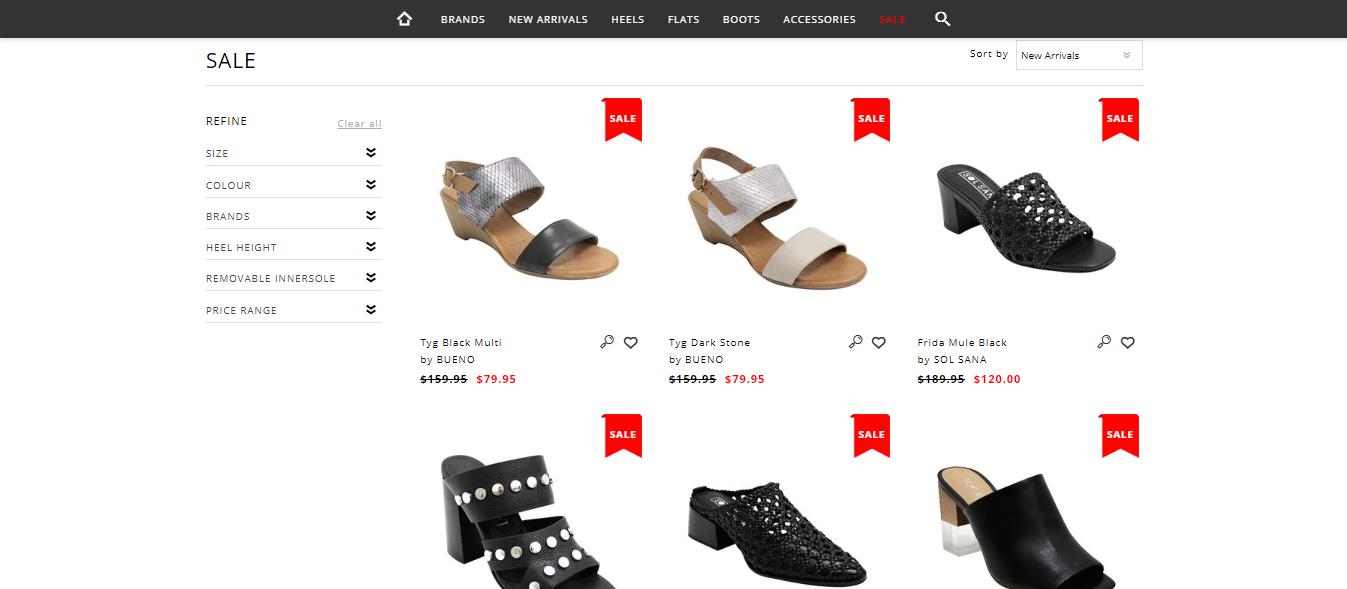 Shouz Sale Page