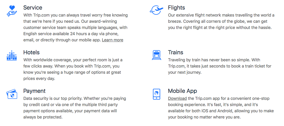 Why book your trip with Trip.com