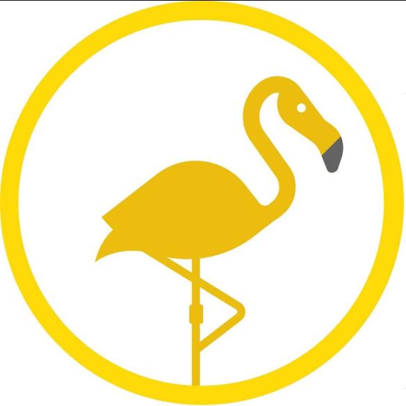De Gele Flamingo logo