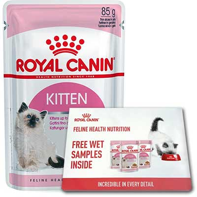 Free Kitten food Samples