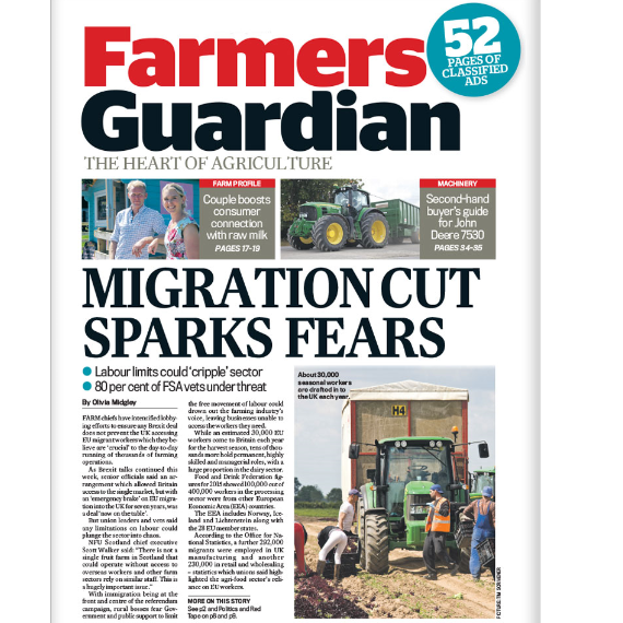FREE issues of Farmers Guardian