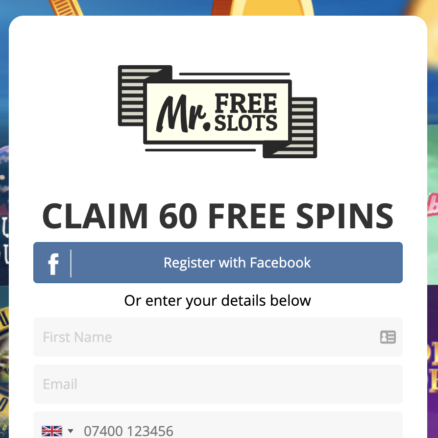 60 Free Spins at MrFreeSlots
