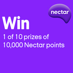 Win 1 of 10 prizes of 10,000 Nectar points