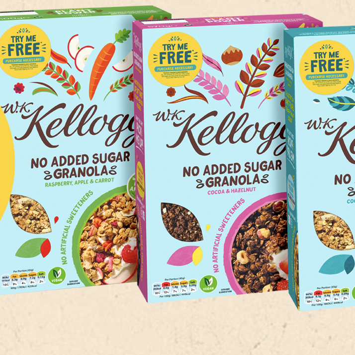 Free Kelloggs No Added Sugar Granola