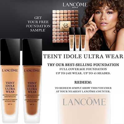 Try Lancome foundation for Free